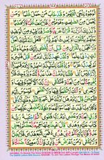 Learn Quran with Tajweed Juz 16 Page 289