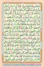 Learn Quran with Tajweed Juz 20 Page 350